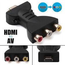 Flexible Portable HDMI to 3 RCA Video Audio AV Adapter Component ConverterLO