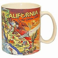 Californien Landkarte Map große ! ! Kaffeetasse ,USA Souvenir Tasse,Coffee Mug