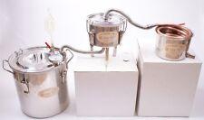 3 Pots DIY 3 Gallon Copper Alcohol Moonshine Still Spirits Boiler Wine Distiller