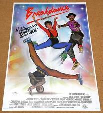 BREAKDANCE Original Movie Poster HIP HOP RAPPIN BODY POPPIN BREAK DANCE BREAKIN