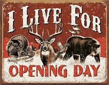 """New listing Live For Opening Day Hunting Novelty 2"""" x 3"""" Metal Refrigerator Toolbox Magnet"""