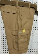 Boys LEE Wyoming Light Brown Cargo Shorts NEW Size 14 Cell Phone Pocket Belted