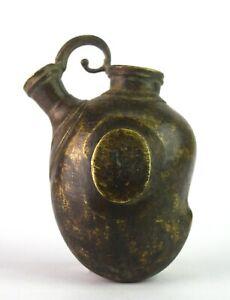Antique Brass Mango Shape Hookah Pot Hand Carved Unique Hand Smoke Pot G9-154