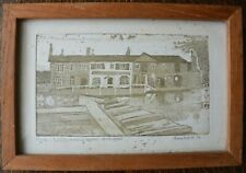 Lovely Diana Hesketh Etching against Artist Proof 'Fradley Junction' 1974