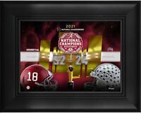 """Alabama Crimson Tide Framed 5"""" x 7"""" CFP 2020 National Champions Collage"""