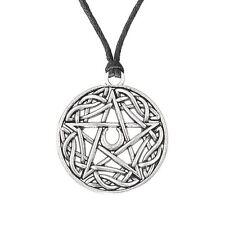 Wicca Jewelry Pentacle Star Moon Pentagram Pendant Necklace Pagan Women 2017