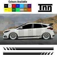 Side Stripes Stickers Graphics Decals For Ford Focus Fiesta ST RS Mk3 MK2 Turbo