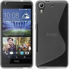 Silikon Hülle für HTC Desire 626 clear S-Style + 2 Schutzfolien