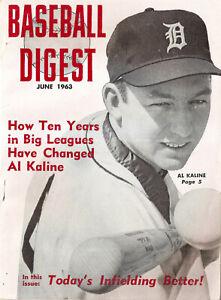 1963-6 Baseball Digest- Al Kaline, Detroit Tigers Cover