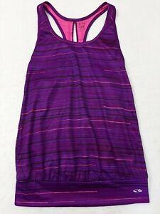 Champion Duo Dry purple Sleeveless Athletic Tank Top Workout Shirt womens XS /TP