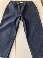 Women's D&Co.  Blue Capri Jeans size XL NWOT