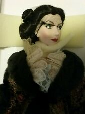 Franklin Mint  Porcelain Scarlett O'Hara Doll paisley robe Gone with the Wind