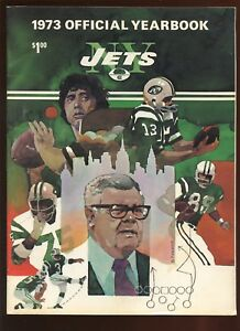1973 NFL Football New York Jets Yearbook EXMT