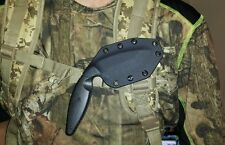 Black Kydex Knife Sheath for Model 1485  KaBar TDI (Sheath only)