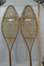 snowshoes hand made Huron beaver style 19th c Canada antique original