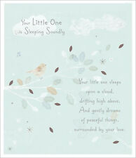 Your Little One is Sleeping Soundly. Sympathy card - sad death of child or baby.