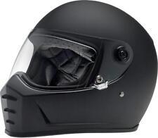 Biltwell Flat Black Solid Lane Splitter Adult Helmet Bad Packaging SM 0101-9946