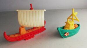 Ancien Jouet Ferrero Œuf Kinder bateau, draccar, viking, Vintage Collection