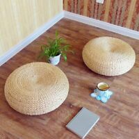 40cm Straw Weave Handmade Pillow Floor Yoga Chair Seat Mat Tatami Cushion   K