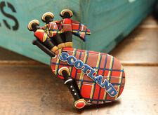 Scotland Bagpipe Tourist Travel Souvenir Mini 3D Rubber Fridge Magnet GIFT IDEA