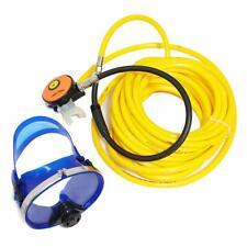 Scuba Snorkeling Mask W/Anti-Fog Glass Lens 2nd Stage Regulator W/100ft Hose Usa