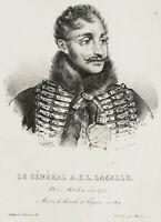 JULIEN; DUCARME, Porträt des Generals A. C. L. Lasalle, Lithografie