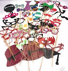 58 Party Props Selfie Photo Booth Moustache Birthday Engagement Wedding Funny