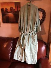 Emotion bath robe light green size S pure cotton