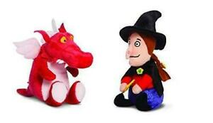 Aurora Room on the Broom Witch and Dragon 6inch Soft Toy Set