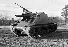 """WW2 Photo WWII  US M7 """"Priest"""" Self Propelled 105mm Howitzer World War Two/ 1493"""