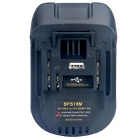 USB Battery Adapter BLACK&DECKER/ PORTER-CABLE/ STANLEY 20V To MAKITA BL1830 18V