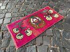 Turkish doormats, Handmade rug, Vintage rug, Carpet, Home decor | 1,1 x 2,3 ft