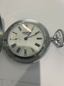 Vintage Sekonda 18 Jewels Hand Winding Pocket Watch Made in USSR Working