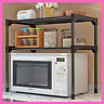 Detachable Microwave Oven Shelf Organizer Storage Rack Holder Kitchen Tableware