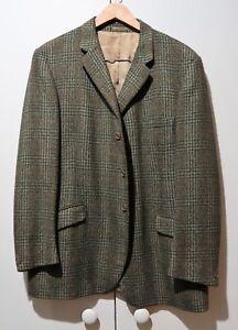 Classic Brown Tweed Wool Men's Jacket- 61cm Chest/50cm Shoulder