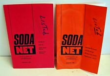 Painted Label Soda Net; 1996 (2) issues; ACL soda collectors Official Newsletter