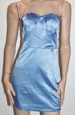 bluejuice Designer Sky Blue Satin Strapless Dress Size 10 BNWT #sN61