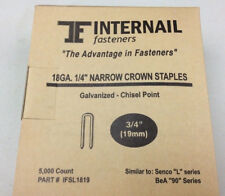 "Internail L11 18 Gauge Narrow Crown Staples 1/4"" Crown x 3/4"" Leg - L19 staples"