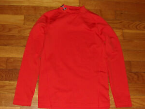 UNDER ARMOUR COLDGEAR LONG SLEEVE MOCK FITTED JERSEY BOYS SMALL EXCELLENT
