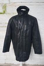 Mens UK Size L Black Paul Berman Leather Jacket 113