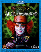 Disney Tim Burton Johnny Depp Live Action Alice in Wonderland on Blu-ray & DVD