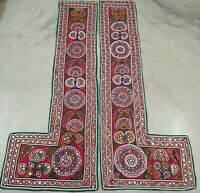 ANTIQUE HANDMADE MIRROR EMBROIDERY TRIBAL *SAKHIYA* WALL HANGING DECOR TAPESTRY