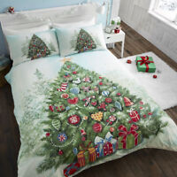 Christmas Tree Xmas Decorated Presents Tree Duvet Cover/Quilt Cover Set Multi