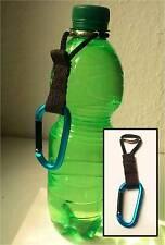 Mobiler Flaschenhalter Getränkehalter Gürtel Gadget mit Karabinerhaken Karabiner