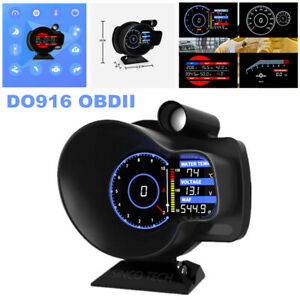 DO916 OBDII Car Dash Speed Meter RPM Water Temperature Voltage Digital Display
