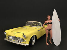 SURFER CASEY FIGURE FOR 1:24 SCALE DIECAST MODEL CARS BY AMERICAN DIORAMA 77489