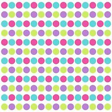 CONFETTI GLITTER POLKA DOTS 180 Wall Decals Green Purple Room Decor Stickers 712