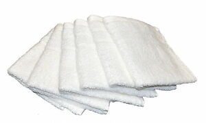 6 x Pure Cotton Face Washers Set Spa Quality 600gsm Natural White RRP $9.95 ea