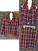 Vintage Burberrys of London 3 Pc Suit Size 10 Skirt Vest Jacket Shoulder Pads