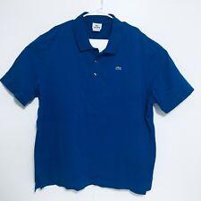 Lacoste Mens Blue Short Sleeve Polo Shirt Top Size 8 2XL XXL